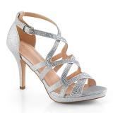 Silber 9,5 cm DAPHNE-42 Sandaletten mit stiletto absatz