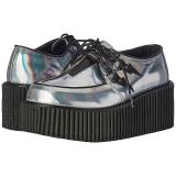 Silber CREEPER-218 Plateau Creepers Schuhe Damen