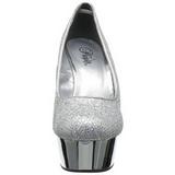 Silber Glitter 15 cm Pleaser DELIGHT-685G Plateau Pumps