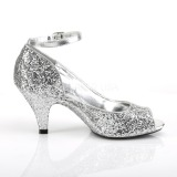 Silber Glitter 7,5 cm BELLE-381G pumps für männer