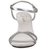 Silber Glitter 8 cm BELLE-316 High Heel Sandaletten Damen