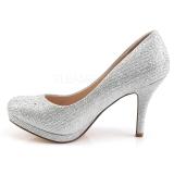 Silber Kristallstein 9 cm COVET-02 Pumps Abend Schuhe mit Absatz