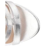 Silber Kunstleder 10 cm DREAM-438 grosse grössen stiefeletten damen