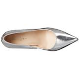 Silber Matt 10 cm CLASSIQUE-20 Damen Pumps Stiletto Absatz