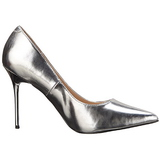Silber Matt 10 cm CLASSIQUE-20 High Heels Pumps für Männer
