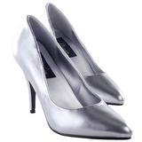 Silber Matt 10 cm VANITY-420 Damen Pumps Schuhe Flach
