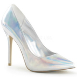 Silber Matt 13 cm AMUSE-20 Damen Pumps Stiletto Absatz