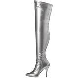 Silber Matt 13 cm SEDUCE-3000 Overknee Stiefel für Männer