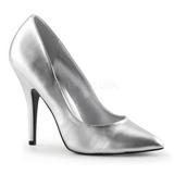 Silber Matt 13 cm SEDUCE-420 High Heels Pumps für Männer