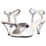 Silber Matt 8 cm BELLE-309 High Heel Sandaletten Damen