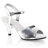 Silber Matt 8 cm BELLE-309 High Heels Damenschuhe für Herren
