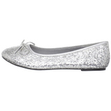 Silber STAR-16G glitter flache ballerinas damen schuhe