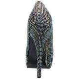Silber Strass 14,5 cm Burlesque TEEZE-06RW herren pumps für breite füsse