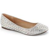 Silber TREAT-06 kristallstein flache ballerinas damen schuhe