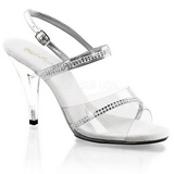 Silber Transparent 10 cm Pleaser CARESS-439 High Heels