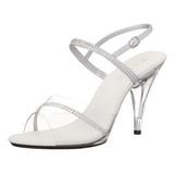 Silber Transparent 10 cm Pleaser CARESS-439 High Heels
