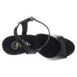 Silber chrome plateau 15 cm DELIGHT-609 pleaser high heels