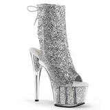 Silber glitter 18 cm ADORE-1018G damen stiefeletten mit plateausohle