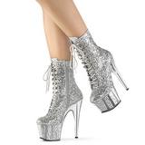 Silber glitter 18 cm ADORE-1020G damen stiefeletten mit plateausohle