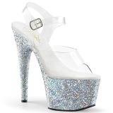 Silber glitter 18 cm Pleaser ADORE-708LG pole dance high heels schuhe