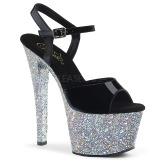 Silber glitter 18 cm Pleaser SKY-309LG pole dance high heels schuhe