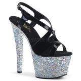 Silber glitter 18 cm Pleaser SKY-330LG pole dance high heels schuhe