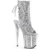 Silber glitter 20 cm Pleaser FLAMINGO-1018G pole dance stiefeletten