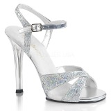 Silber glitzern 11,5 cm Fabulicious GALA-19 Sandaletten mit high heels