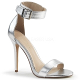Silver 13 cm AMUSE-10 transvestite shoes