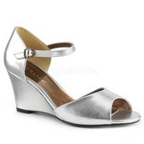 Silver Leatherette 7,5 cm KIMBERLY-05 big size sandals womens