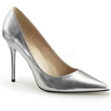 Silver Matte 10 cm CLASSIQUE-20 Women Pumps Shoes Stiletto Heels