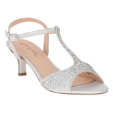 Silver Rhinestone 6,5 cm AUDREY-05 High Heeled Evening Sandals