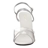 Silver Transparent 10 cm Pleaser CARESS-439 High Heels
