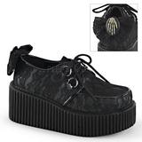 Spitzenstoff CREEPER-212 Plateau Creepers Schuhe Damen