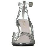 Strasssteinen 8 cm BELLE-330RS Sandaletten mit high heels