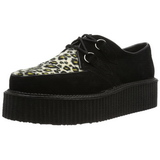 Suede 5 cm CREEPER-400 Platform Mens Creepers Shoes