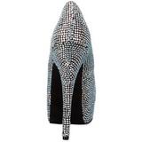 Titan Strass 14,5 cm Burlesque TEEZE-06R Plateau Damen Pumps Schuhe