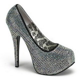 Titanium Rhinestone 14,5 cm Burlesque TEEZE-06R Platform Pumps Women Shoes