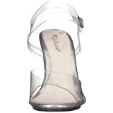 Transparent 10 cm CARESS-408MG Abend Sandaletten mit Absatz