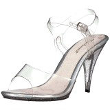 Transparent 10 cm CARESS-408MG High Heeled Evening Sandals