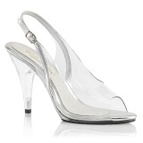 Transparent 10 cm CARESS-450 High Heeled Evening Sandals
