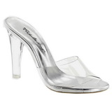 Transparent 11,5 cm CLEARLY-401 Damen Mules Schuhe