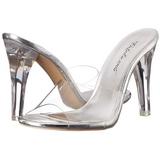 Transparent 11,5 cm CLEARLY-401 Damen Mules Schuhe