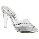 Transparent 11,5 cm CLEARLY-401R Damen Mules Schuhe