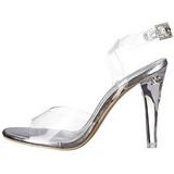 Transparent 11,5 cm CLEARLY-406 Abend Sandaletten mit Absatz