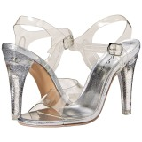 Transparent 11,5 cm CLEARLY-408MG High Heeled Evening Sandals
