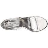 Transparent 11,5 cm CLEARLY-430 Abend Sandaletten mit Absatz