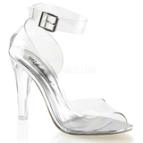 Transparent 11,5 cm CLEARLY-430 High Heeled Evening Sandals