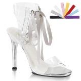 Transparent 11,5 cm GALA-32 Sandaletten mit high heels