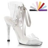 Transparent 11,5 cm GALA-32 high heeled sandals